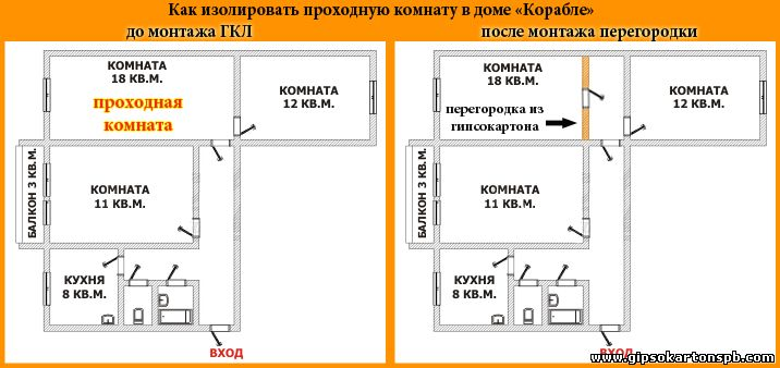 Дизайн 1-комнатной квартиры П-44Т и ее перепланировка